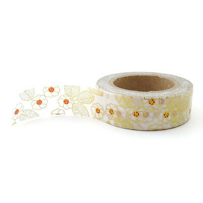 Washi Tape : Gold Foil : Blossoms