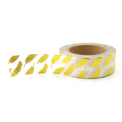 Washi Tape : Gold Foil : Feathers