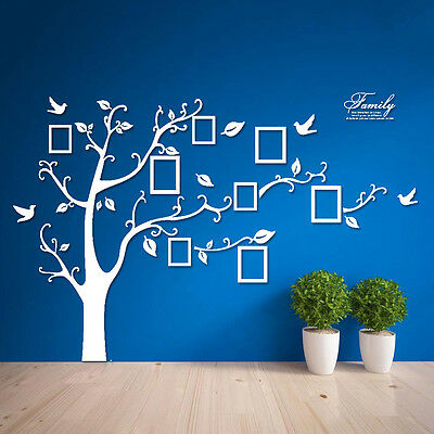 huge family tree photo bird wall stickers home frame removable diy