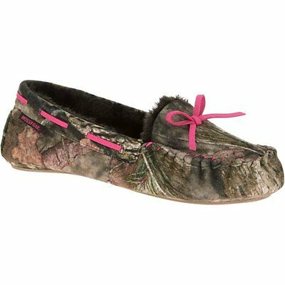 Women's MOSSY OAK Moccasin Slippers Camo & Pink Size Large 9-10 NWT
