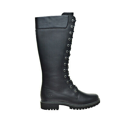 Timberland 14-Inch Premium Side-Zip Lace Womens Waterproof Boots Black tb08632a