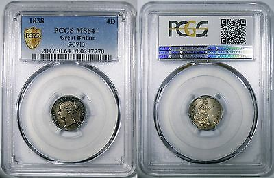 Great Britain, Queen Victoria, Groat (4 Pence), 1838. PCGS MS64+. Beautiful!