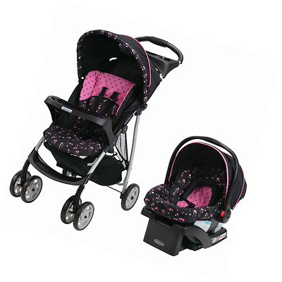 Graco LiteRider Baby Stroller and Car Seat Travel System Infant Folding NEW