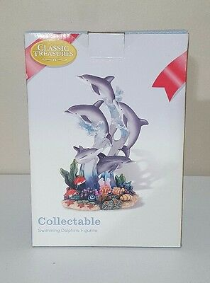 Classic Treasures Collectable Swimmung Dolphins Figurine
