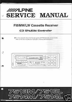 Alpine Service Manual Car für  7513 L/M 7514 L/M