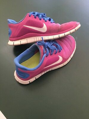 reputable site 65635 4938f USED NIKE FREE 4.0 V4 Women's Running/Training Shoes Size sz 8.5 Pink Blue  White