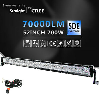6D+ 50inch 672W Curved LED Work Light Bar Combo Offroad Driving For SUV 4X4 Ford