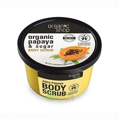 Organic Shop Body Scrub Natural Juicy Papaya and Sugar 250ml