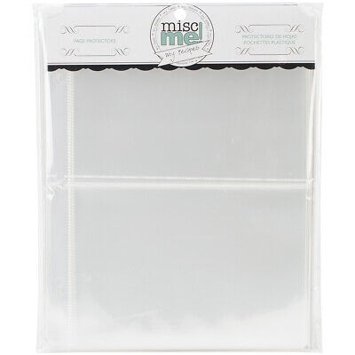 """BoBunny Misc Me Recipe Page Protectors 8""""X9"""" 40/Pkg-Variety Pack"""