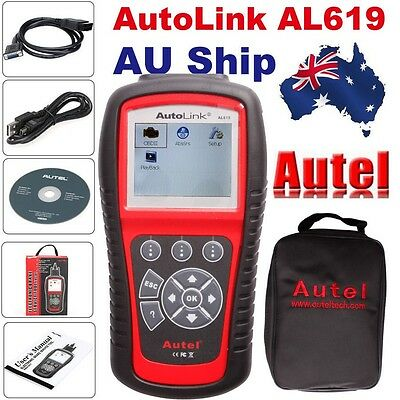 AU Free Ship Autel AutoLink AL619 OBDII Diagnostic CAN ABS And SRS Scan Tool
