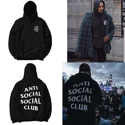 AntiSocial Social Club Hoodie Anti Social Social Club Hooded Jumper Kanye