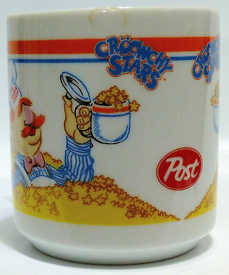RARE Vintage 1988 Swedish Chef CROONCHY STARS MUG Muppets Post Cereal MAIL AWAY