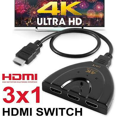 3 in 1 out HDMI Switch Hub Pigtail Switcher Adapter 3 Port 4K*2K HDMI Splitter