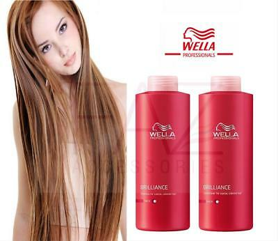Wella Professional Brilliance Shampoo Conditioner For COARSE/THICK Hair  1000ML