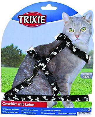 Trixie Nylon Cat Walking Harness Jacket Lead Set One Size Fully Adjustable
