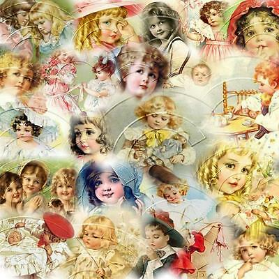 25 Digital Restored Vintage Postcard Images on CD CHILDREN 8 X 10