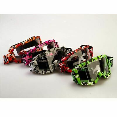 Motohart X2 Camo Motorcross Goggles White Black Red Blue Silver Green New