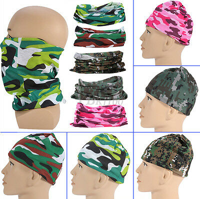 Outdoor Multi Camo Color Scarf Headwear Sun Protection Mask Neck Gaiter Hood