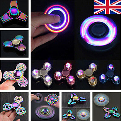 3D Fidget Hand Finger Spinner Focus EDC Fast Bearing Anti Stress Toys Gift UK