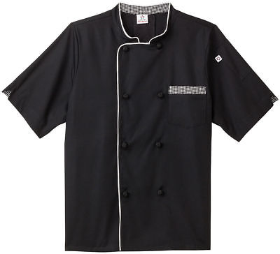 FIVE Star Adult Unisex Short Sleeve Breathable Mesh Executive Chef Coat. 18529