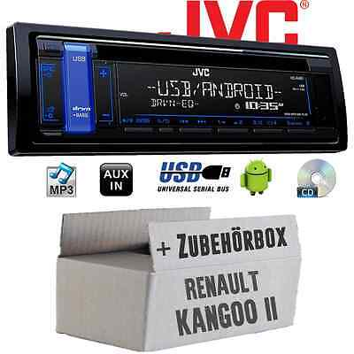 Renault Kangoo 2 - JVC Autoradio CD MP3 USB Android RADIO De Coche KIT VEHÍCULO