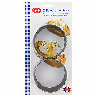 Tala 2 Non-Stick Poachette Poacher Poached Egg Cooking Food Rings 10A09322