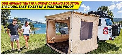 KINGS MOUNTABLE 2M x 3M AWNING ROOF TOP TENT CAMPER TRAILER 4WD 4X4 CAR RACK