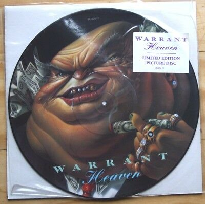 PERFECT! WARRANT HEAVEN Picture Pic Disc!