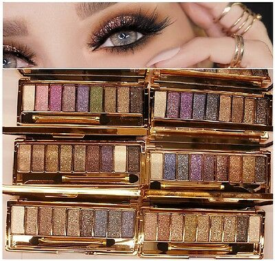 Diamond Eye Shadow Palette & Makeup Brush Professional 9 Colour Cosmetics Beauty