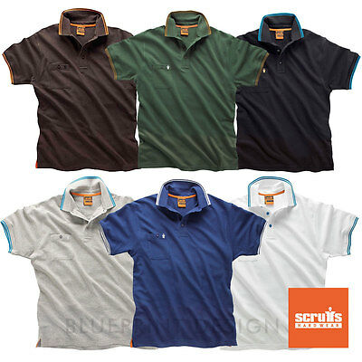 Scruffs Worker Premium Cotton Polo Shirt ALL SIZES & COLOURS AVAILABLE UK SELLER