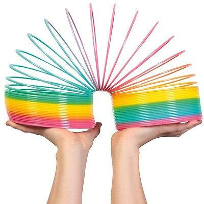 Giant Magic Rainbow Slinky Springy - Indoor/Outdoor Colourful Childrens Classic