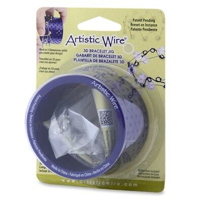 Artistic Wire 3D Bracelet Jig, with Pegs and Holder Tubes - 2015 CHA Winner!