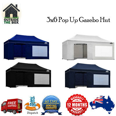 Instahut 3x6m Outdoor Gazebo Folding Marquee New Tent Sports Shade Pop Up Party