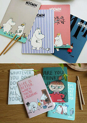 Moomin Family Moomintroll Little My A5 Lined Notebook Japanese Various Designs