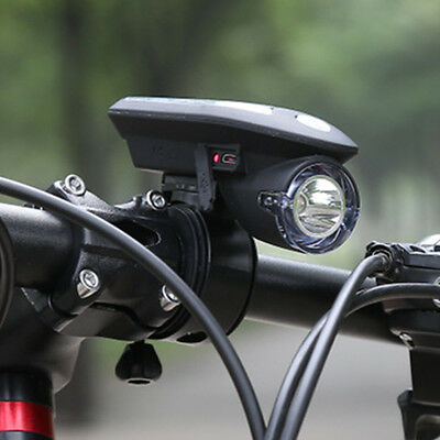 Bike Bicycle USB Rechargeable Solar Power Charging Headlight Cycling Accessory Z