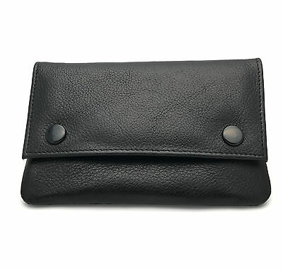 SOFT LEATHER Tobacco Pouch Top Quality in Black by Golunski BRAND NEW