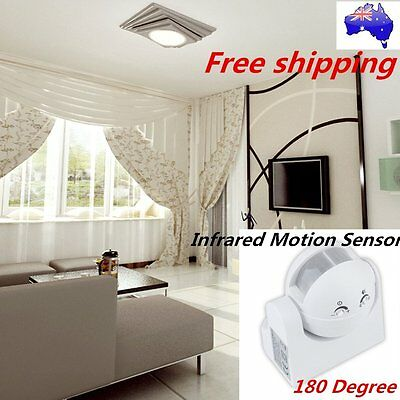 180°Outdoor Security PIR Infrared Motion Movement Sensor Detector Switch ID