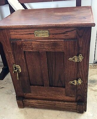 """Antique White Clad """"ICE BOX"""" 1960'S End Table(s)"""