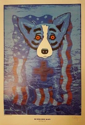 Border Shepher Dog Poster by George Roridgue 2005