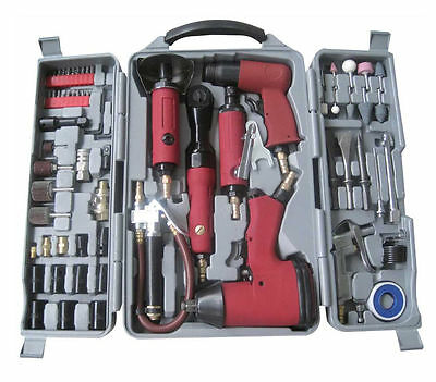 77PC Power Air Gun Tool Kit Ratchet Wrench Grinder Hammer Socket Hex - AmTech