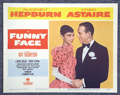 Funny Face '57 Fred Astaire Audrey Hepburn Original Lobby Card Donen Musical
