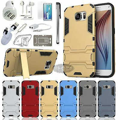 Case Cover Charger Earphones Accessory Samsung Galaxy S6 S7 Edge S8 S8+ Note 8