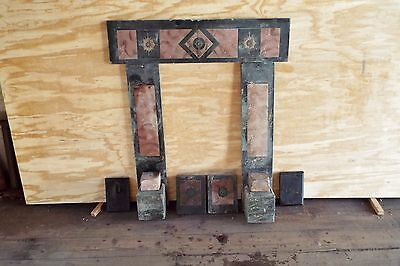 Antique Slate Fireplace Surround, Faux Marble Incomplete