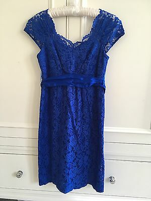 Seraphine Luxe Maternity Lace Dress Size 8/10, Royal Blue