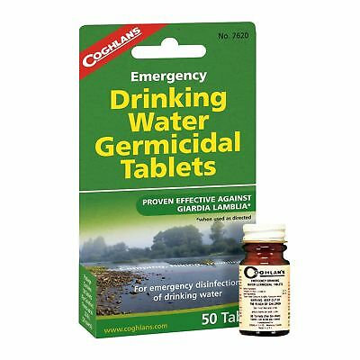 Coghlan's Emergency Drinking Water Germicidal Tablets 50-Count Purification Tabs