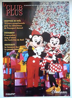"Ancien Magazine ""Le Club Plus"" N°9 / Novembre 1996 / Disneyland Paris"