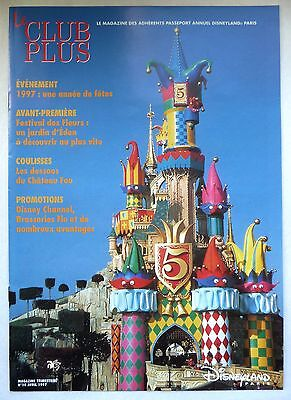 "Ancien Magazine ""Le Club Plus"" N°10 / Avril 1997 / Disneyland Paris"