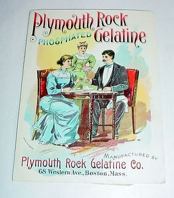 2 Antique Victorian Ad Flyers Plymouth Rock Phosphated Gelatine Well Illustrated