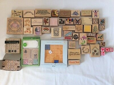Scrapbooking Rubber Stamps Lot and Sets Crafts
