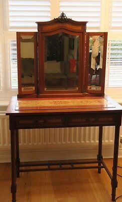 Stunning Antique French Vanity Dressing Make Up Table Mirror Circa 1850